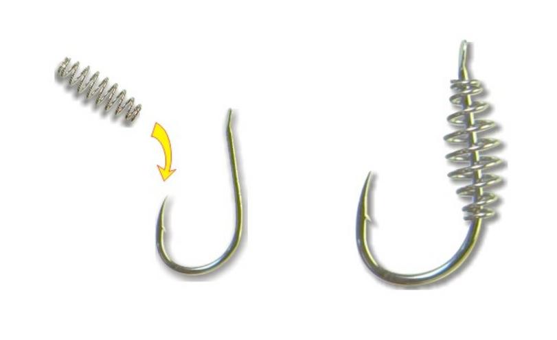 Крючок пружинный для рыбалки