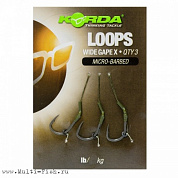 Поводок готовый Korda Loop Rigs DF Wide Gape X №4 18lb