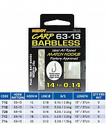 728 поводки MIDDY  63-13 Barbless 16s to 0.16 9pc pkt
