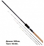 20031 удилище MIDDY 4GS Micro Muscle Feeder Rod 10' (3,0мт 10-45) 3 хлыста