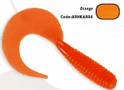 Силиконовая приманка HERAKLES SICKLE GRUB 3.5cm (Orange) 10pcs