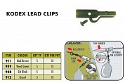 Безопасная клипса 30PLUS Kodex Lead Clips Mud Brown (10pc pkt)